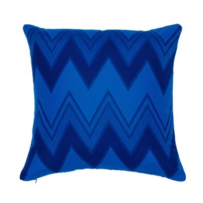 Blue Zig Zags Handmade Cushion Cover | MotzDESIGNS Custom Interior Design | Quality Soft Furnishings | Custom Curtains | Handmade in Australia | MotzDESIGNS | Home Decor Brisbane | Online Shop | Interior Decoration | Interior Decorator