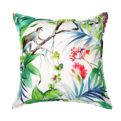 Monkey Tropical Handmade Cushion Cover | MotzDESIGNS Custom Interior Design | Quality Soft Furnishings | Custom Curtains | Handmade in Australia | MotzDESIGNS | Home Decor Brisbane | Online Shop | Interior Decoration | Interior Decorator