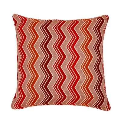 Red Zig Zags Handmade Cushion Cover | MotzDESIGNS Custom Interior Design | Quality Soft Furnishings | Custom Curtains | Handmade in Australia | MotzDESIGNS | Home Decor Brisbane | Online Shop | Interior Decoration | Interior Decorator